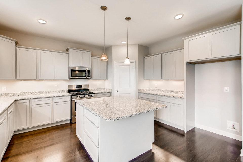 gorgeous white kitchen layout