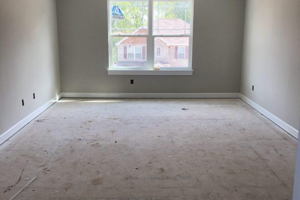unfinished room
