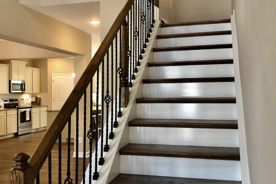entry way with staircase